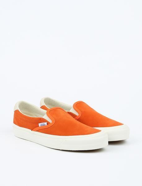 d4ed373c79 Vans OG Slip-On 59 LX - (Suede) Red Orange Marshmallow