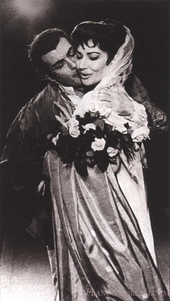 Franco Corelli with Maria Callas in Tosca, New York Metropolitan Opera, 1965