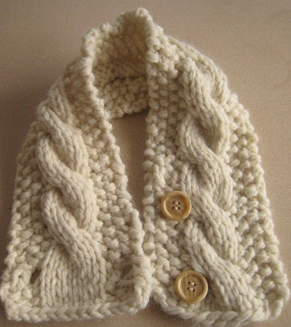 Knitting Pattern Cabled Neck Warmer by HomeMadeOriginals on Etsy
