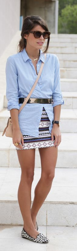Uve Multicolor Aztec Jewelled Tube Mini Skirt by Seams For a Desire