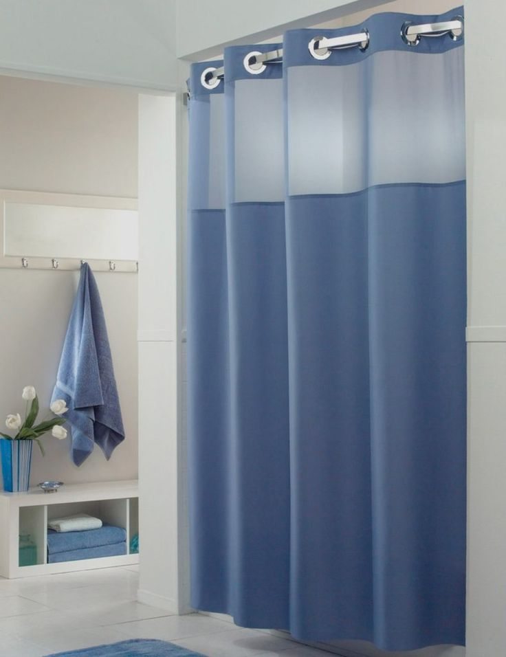 Hookless Water Repellent Fabric Shower Curtain