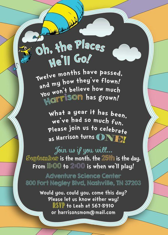 Oh The Places You Ll Go Chalkboard Printable Birthday
