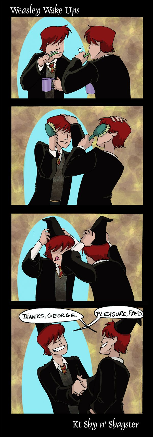Fred & George Weasley by ~ktshy on deviantART