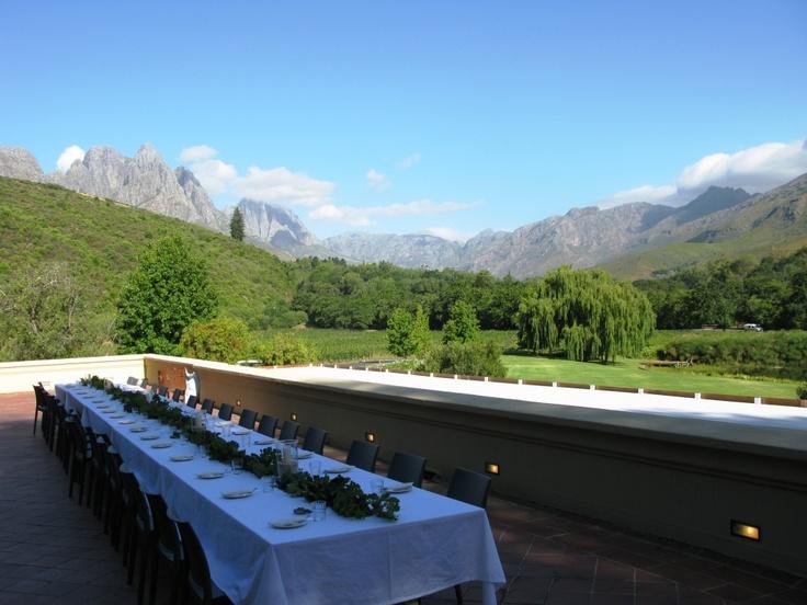 Wine dinner at Stark-Conde, Stellenbosch, South Africa