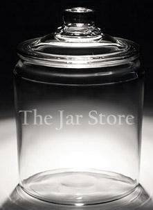 Website for inexpensive glass containers: 1 Gallon / 128 Oz Anchor Heritage Hill Jar With Glass Lid (10.99)