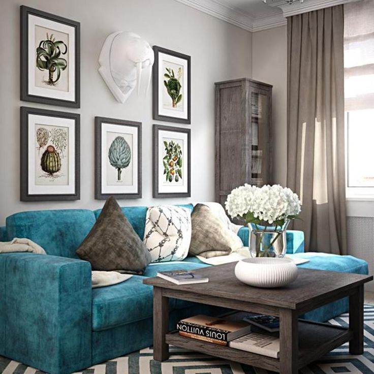 Floral, animal print, or abstract. teal living room - Google Search | Teal living rooms, Teal