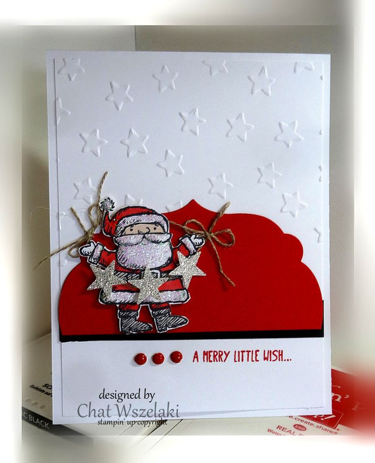 Get you santa on me my stamps and i stampin 39 up for Santa cards pinterest