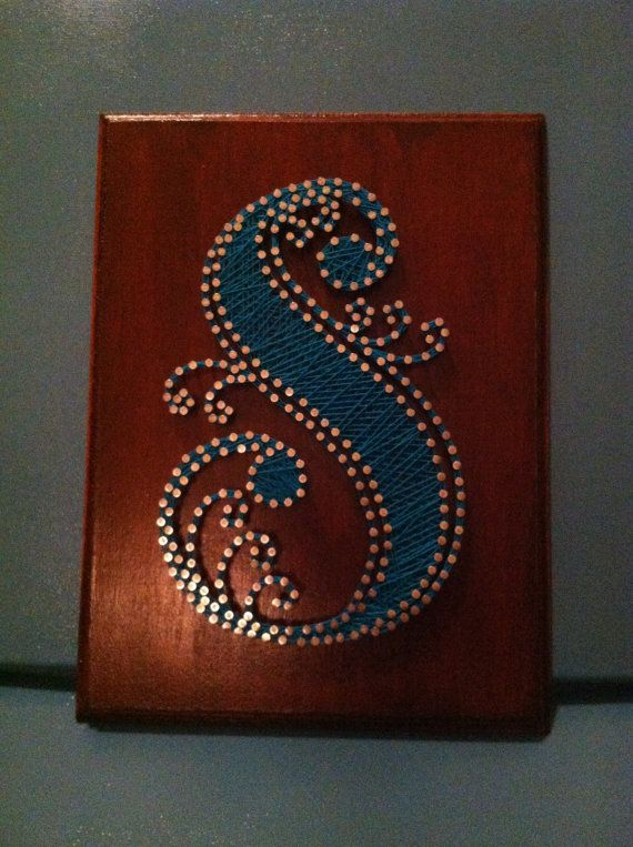 Monogrammed String  Nail Art Letter S  by FaceDesigns on Etsy, $30.00