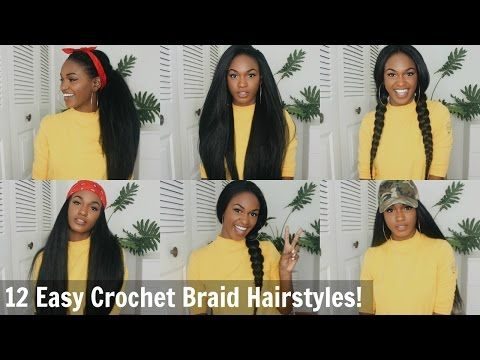 12 Super Easy Straight Crochet Hairstyles! - Outre X-pression Dominican Blowout [Video] - Black Hair Information