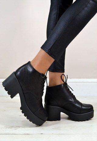 Ankle high platform boots :)
