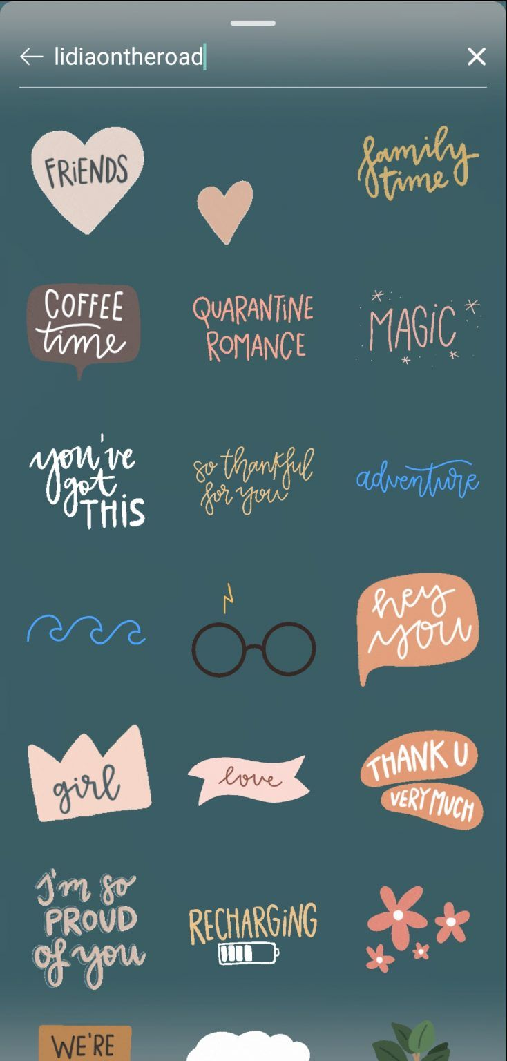 40 aesthetic gifs stickers for instagram stories