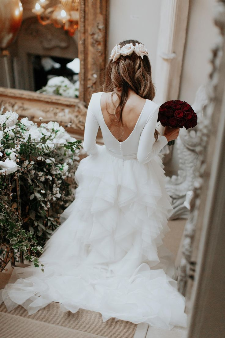 Lydia Elise Millen   Dress by Kate Halfpenny  Hair by Despina Sianou  flowers Maison De Fleurs   Make up ByTerry   Winter Wedding 2017  Aynhoe Park #weddingdress