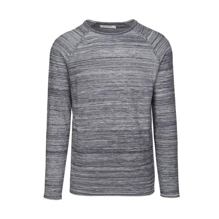 Pullover Tom | blauw melange | 100% bio-katoen | ARMEDANGELS | De Groene Knoop