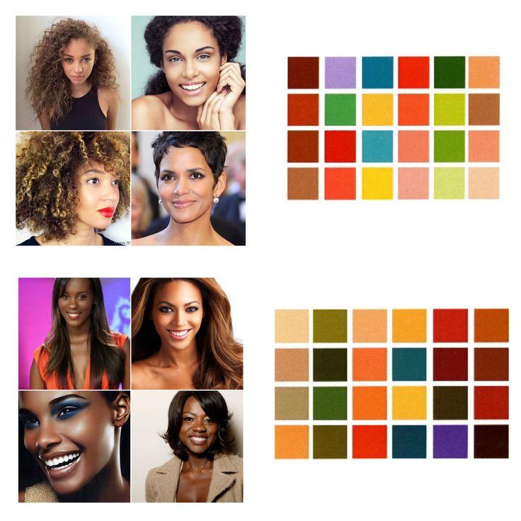 Tons automne et printemps pour les peaux brunes (de la dorée à la chocolat). #colorimetrie #colorimetria #personalshopper
