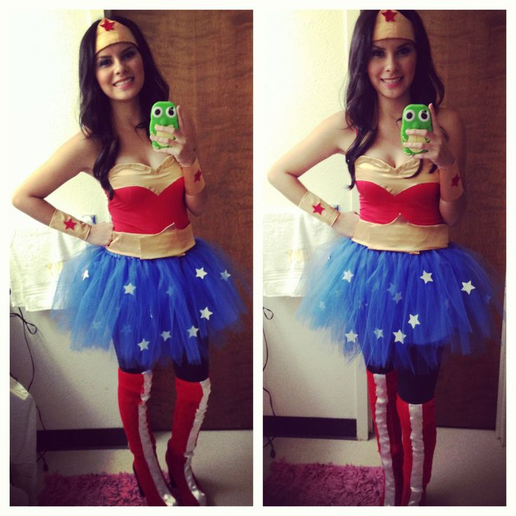 Made this Wonder Woman costume from head to toe!!   Happy Halloween!