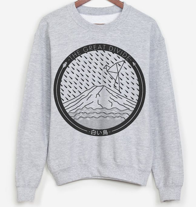 The Great Divide 2014 Japan Tour Sweater  #illustration #japan #origami #vectorial