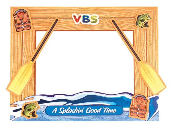 Raftin River Frame Craft Pack Of 12 Splash Canyon Vbs