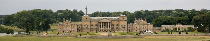 Holkham Hall is an eighteenth-century country house located adjacent to the village of Holkham, Norfolk. The hall was constructed in the Palladian style for Thomas Coke, 1st Earl of Leicester (fifth creation) by the architect William Kent, aided by the architect and aristocrat Lord Burlington.