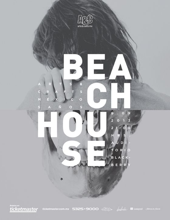 Beach House concert poster.