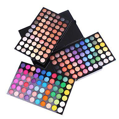 180 kleuren oogschaduw professionele make-up cosmetische palet glimmen en matte gemengde stijl – EUR € 16.49