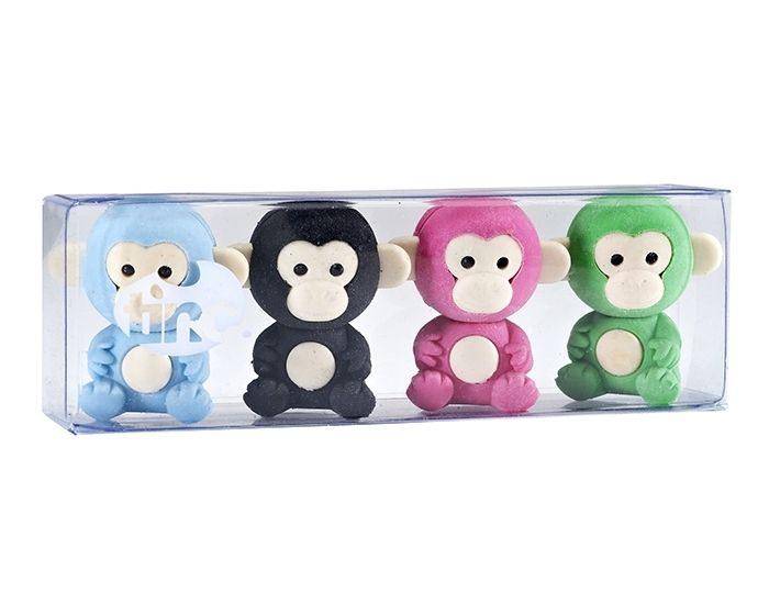 It is not a good sign if a monkey grins. It means they are angry! Luckily our monkeys look very serious. They must be secretly happy.   https://www.tinc.uk.com/products/scented-monkey-erasers-multi/