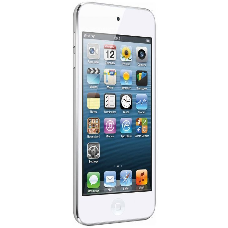 Apple iPod Touch 5th Gen, 32 GB with 5mp iSight camera and Apple earpods.
