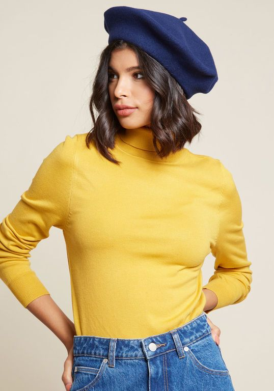 de6c707776735 Isn t She Chic  Wool Beret in Navy in 2019