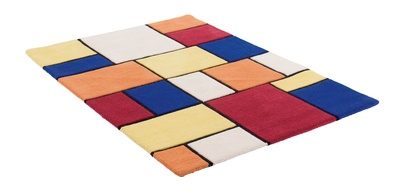 The bold, multi-coloured pattern on this contemporary hand tufted rug will make it the feature of any room in which its placed.