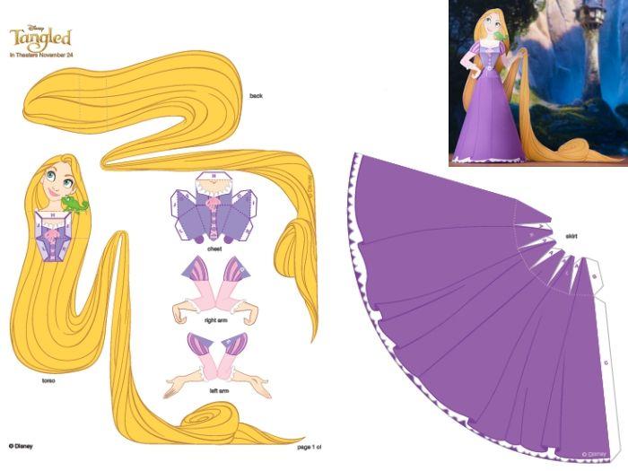 Aprenda a fazer uma boneca de papel da personagem Rapunzel - Jovem - R7
