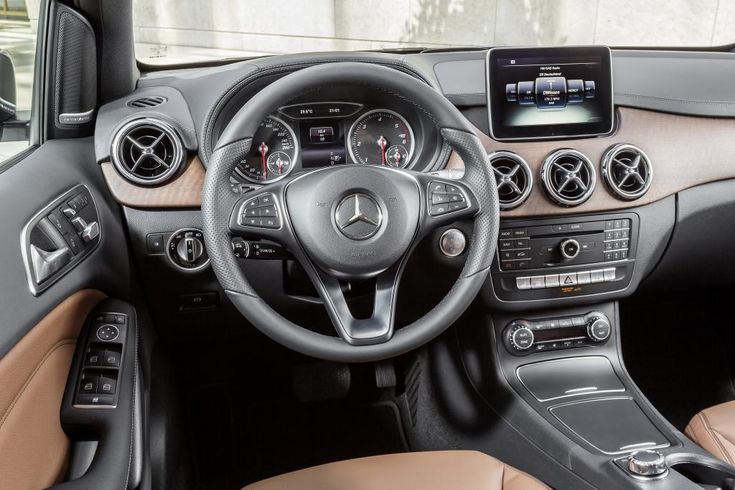 Mercedes-Benz B-Class model year 2014, B 220 CDI 4MATIC, mountain grey, Urban line, interior [Fuel consumption combined: 5 (l/100 km) CO2 emission combined: 131-130 g/km] #mbhess #mbcars #mbbclass