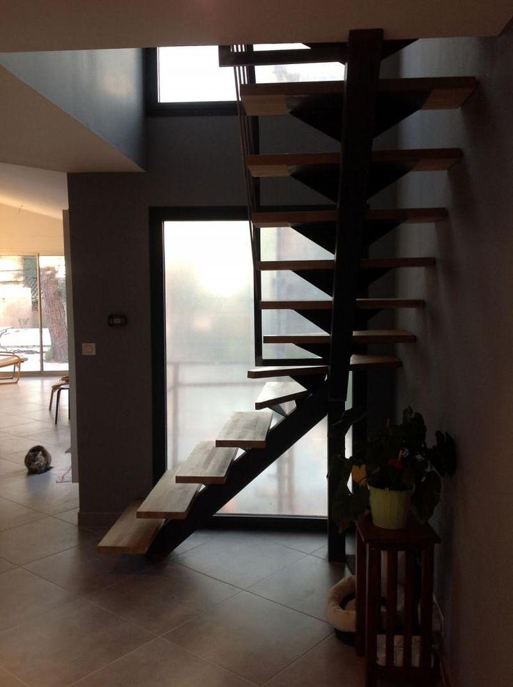 25 ide terbaik escalier quart tournant di pinterest escalier tournant tangga dan escalier. Black Bedroom Furniture Sets. Home Design Ideas
