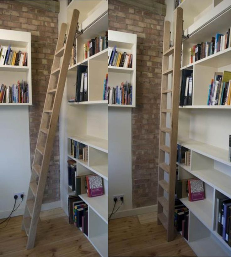 Library Style For The Ladder, So It Can Slide Along The Loft