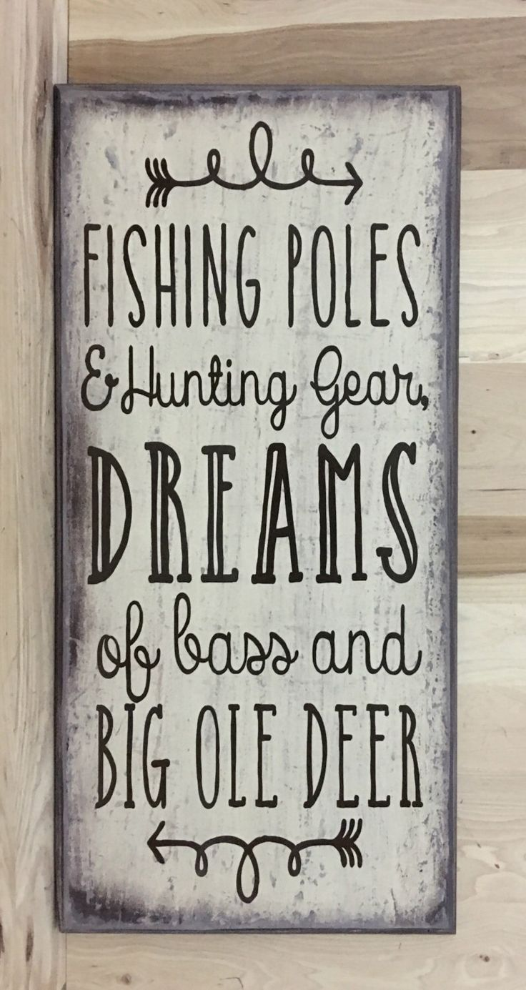 Fishing Decor Fishing Wood Sign Hunting Decor Father S Day Gift Gift For Husband Cabin Wall Decor Gift For Him Custom Wood Sign