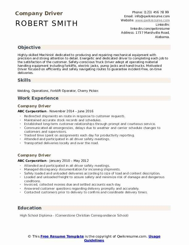 Truck Driver Resume Examples Unique Pany Driver Resume Samples In 2020 Medical Coder Resume Teacher Resume Examples Truck Driver