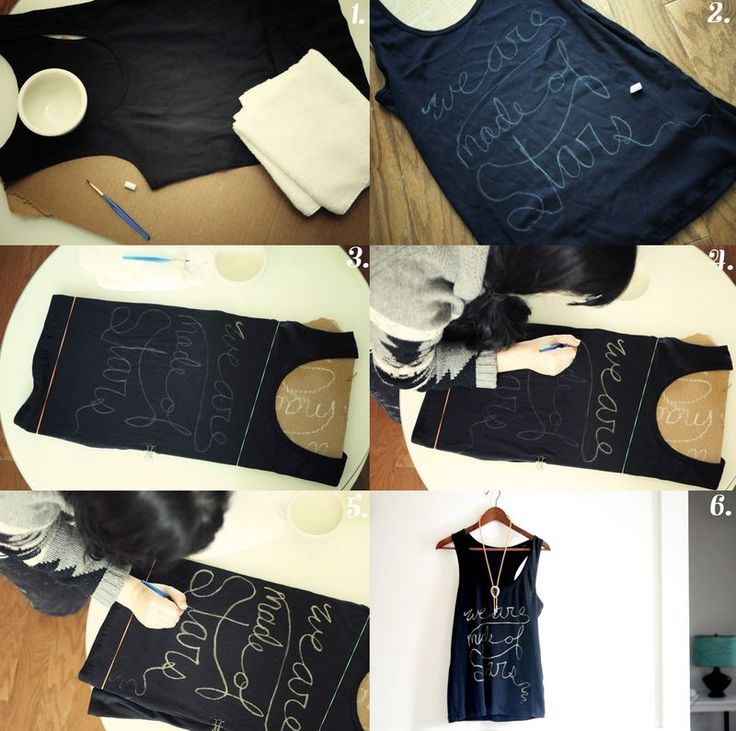 DIY handwritten bleach shirt.
