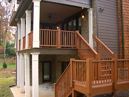 Column Support Deck Base Color Matches House And Rails