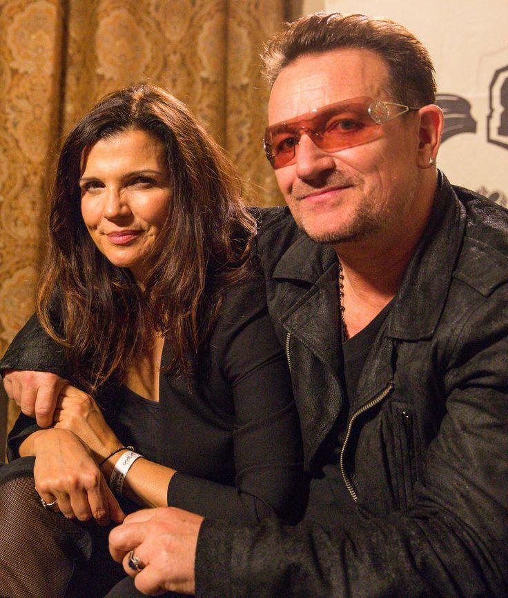 Bono and Ali Hewson at an EDUN Event