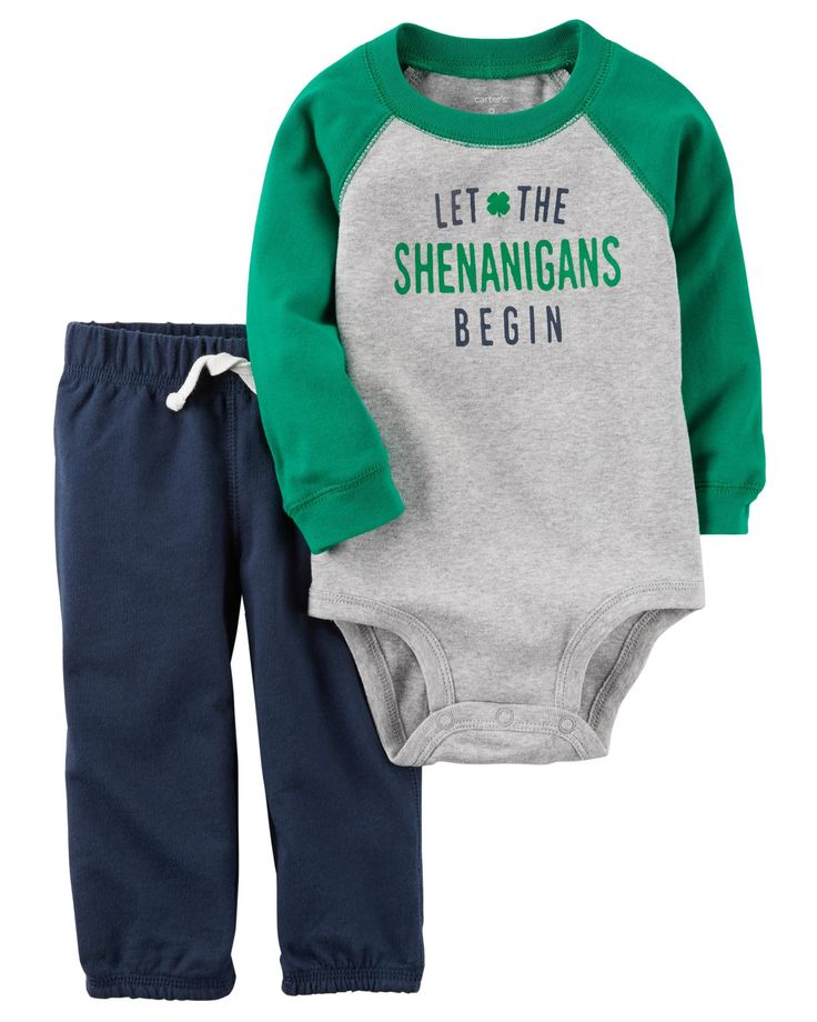 Baby Boy 2-Piece St. Patrick's Day Bodysuit Pant Set   Carters.com