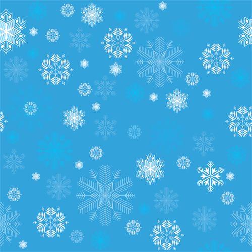 Copos de nieve en azul                                                       …