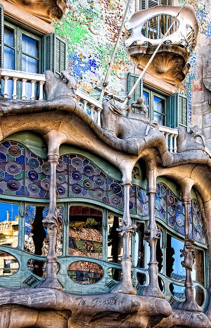 Casa Batlló, Barcelona, Spain………..CHECK … literally the most beautiful apartments in the world