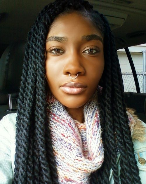 I like the medium size best. marley braids hairstyles ...