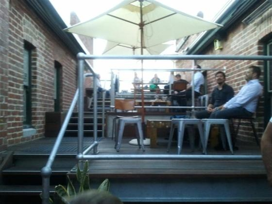 Mechanic Institute Bar, Perth. A great little rooftop bar also serving burgers from downstairs.