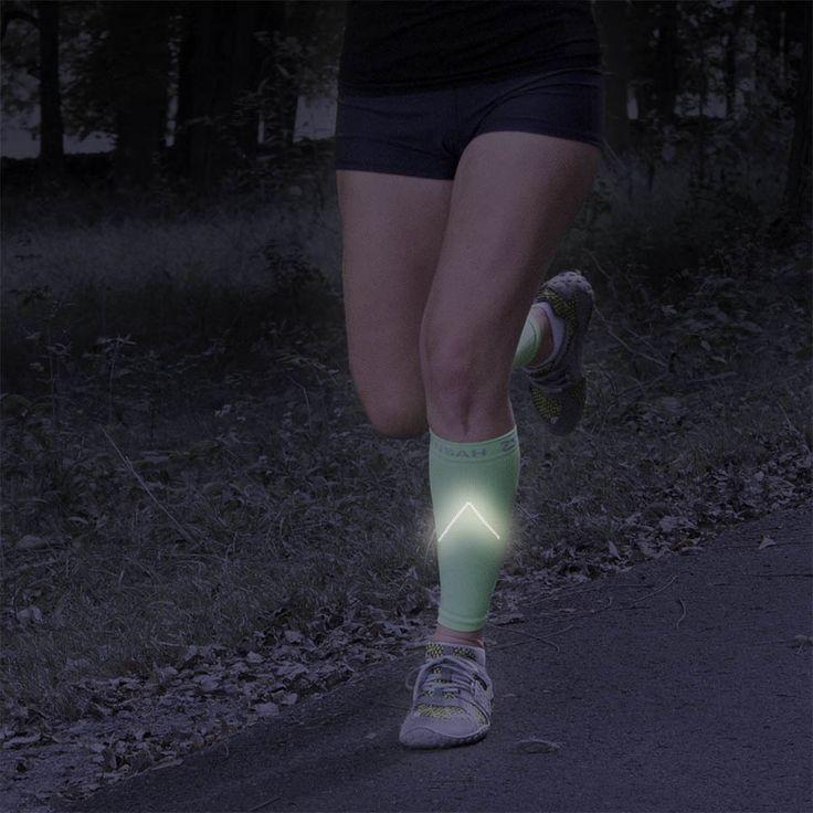 Zensah Reflective Compression Leg Sleeves - Best Night Running Gear - Relieve Shin Splints - Calf Sleeves for Running - Improve Visibility