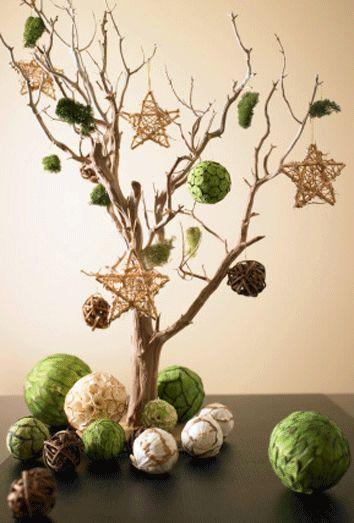 Adornos reciclados para Navidad