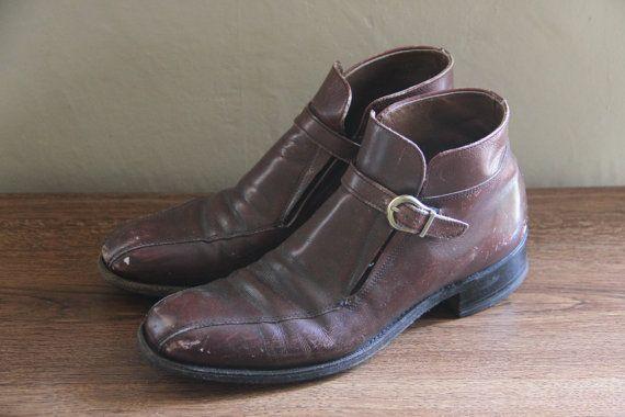Vintage 1960s Florsheim Imperial Men's Brown Boots by TheBlackVinyl, $65.00 #boots #mensboots #brownboots #ankleboots