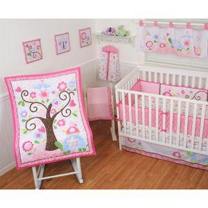 Sumersault In Bloom 10-Piece Nursery-in-a-Bag Crib Bedding Set