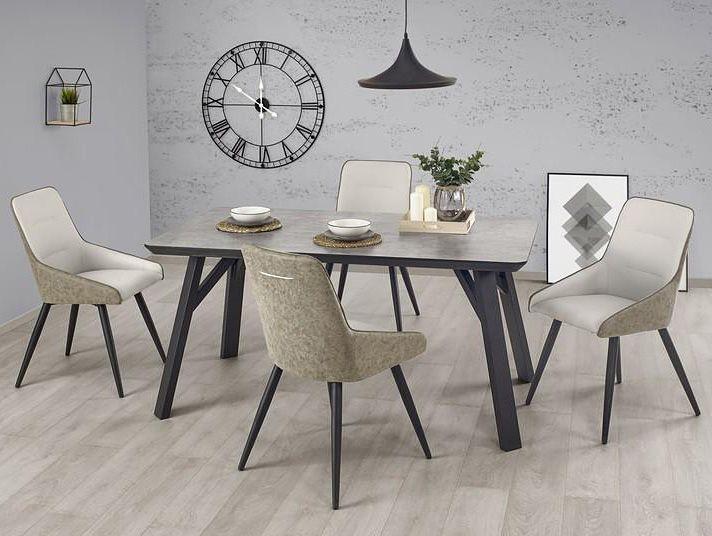 Stół Halifax w modnym kolorze betonu z całą pewnością stanie się prawdziwą ozdobą pomieszczenia.  Dostawa na terenie całej Polski.