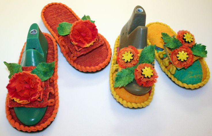 "Felt Shoes for woman ""Summer""-2 by ViktoriyaFelt on Etsy"