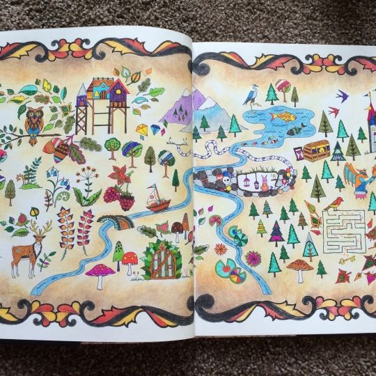 17 Best Images About Enchanted Forest Colouring Book On