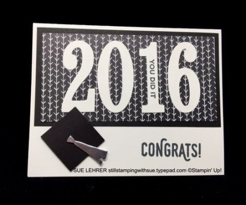 Handmade graduation card using the Number of Years Stamp Set,  Perfect Pairings Stamp Set & Everyday Chic Designer Series Paper from Stampin' Up!